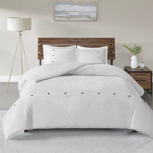 Eider Ivory Carmella 3 Piece 100 Cotton Comforter Set Reviews Wayfair Comforter Sets Cotton Comforter Set Fresh Bedroom