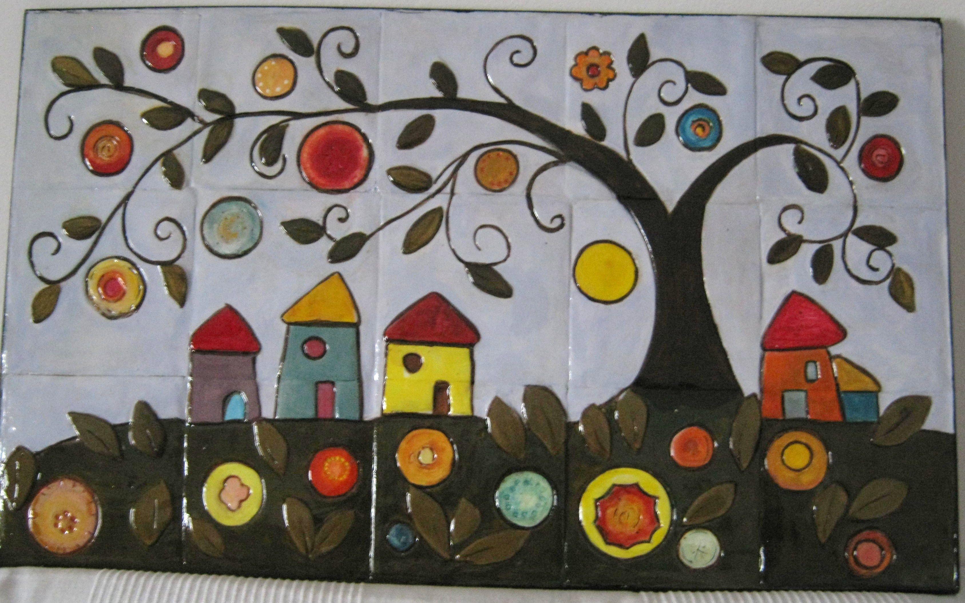 Piastrelle Di Ceramica Decorate.Paraspruzzi Per Cucina In Mattonelle Di Ceramica Decorate