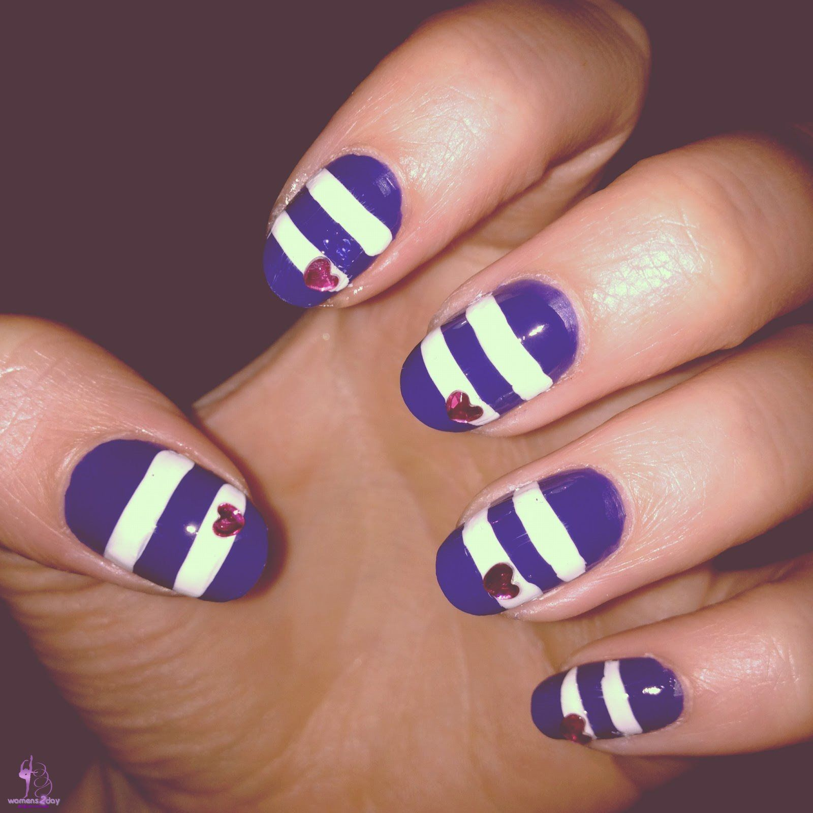 Get Exciting Nails Fashion Trend 2014 Sexy Striped Nail Art Design