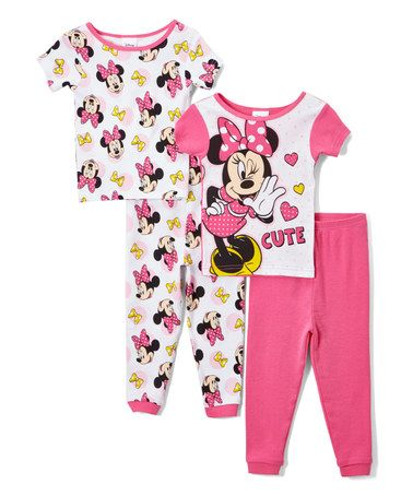 4e17a586771c Look what I found on  zulily! Minnie Mouse  Cute  Two-Piece Pajama Set -  Toddler  zulilyfinds
