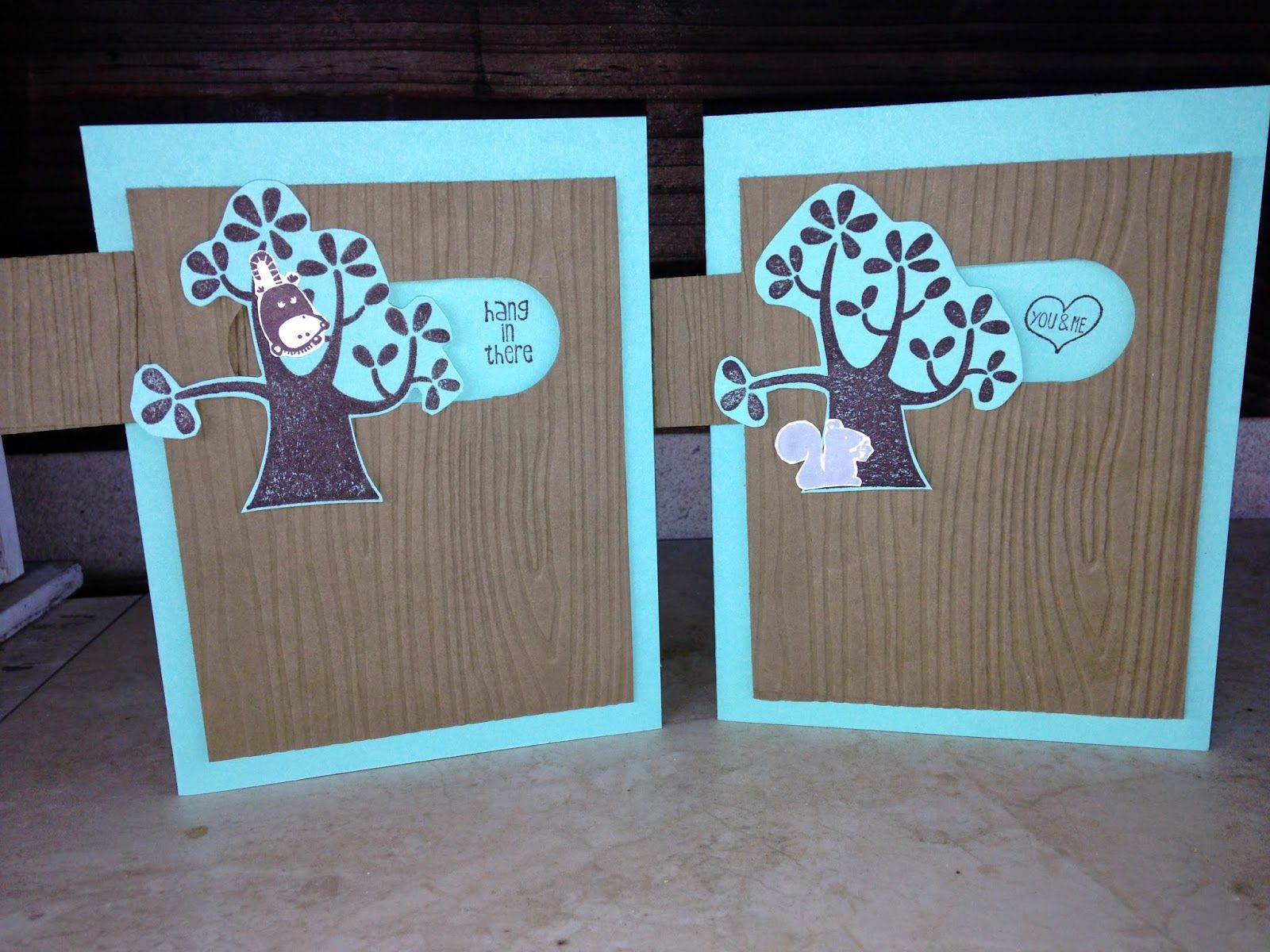 Stamp with Barbara Nuts About You Hostess Set Woodgrain Embossing Folder