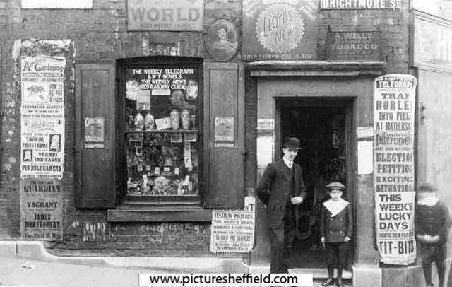 Newsagency of Mr Alfred Wells at No.2 Brightmore Street