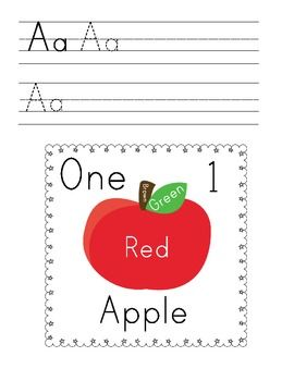 FREE - A is for Apple Printable