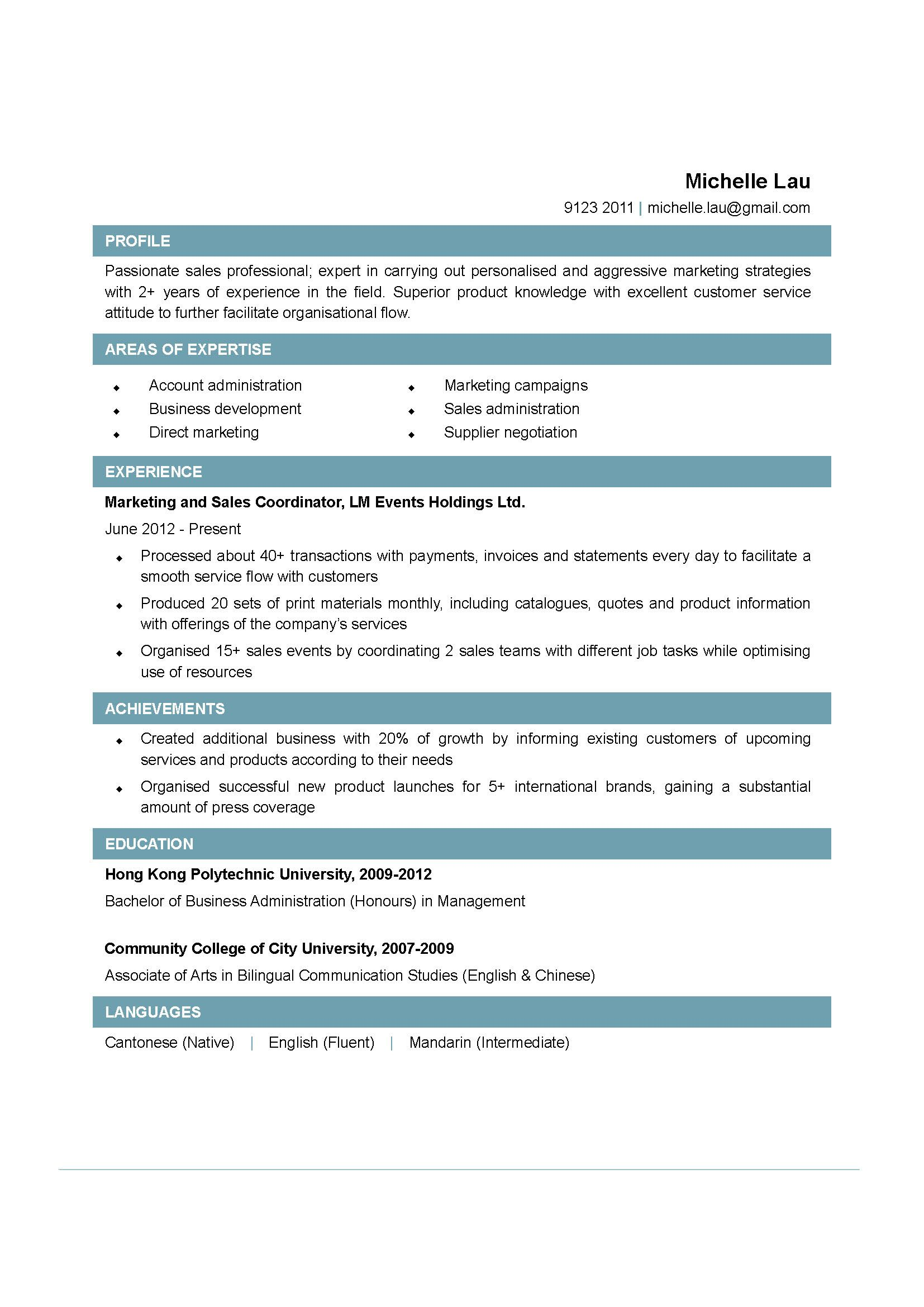 Sales Coordinator Resume Examples  HttpWwwJobresumeWebsite