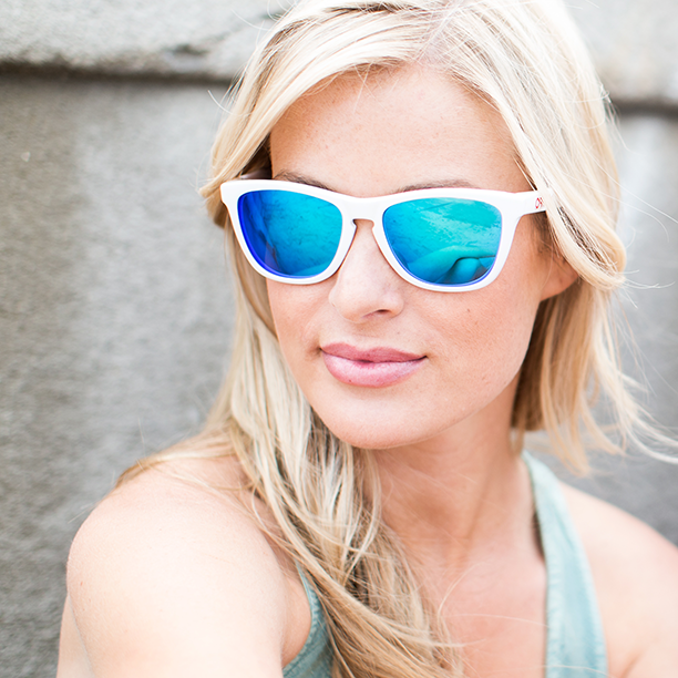 oakley frogskins frames with revant polarized ice blue