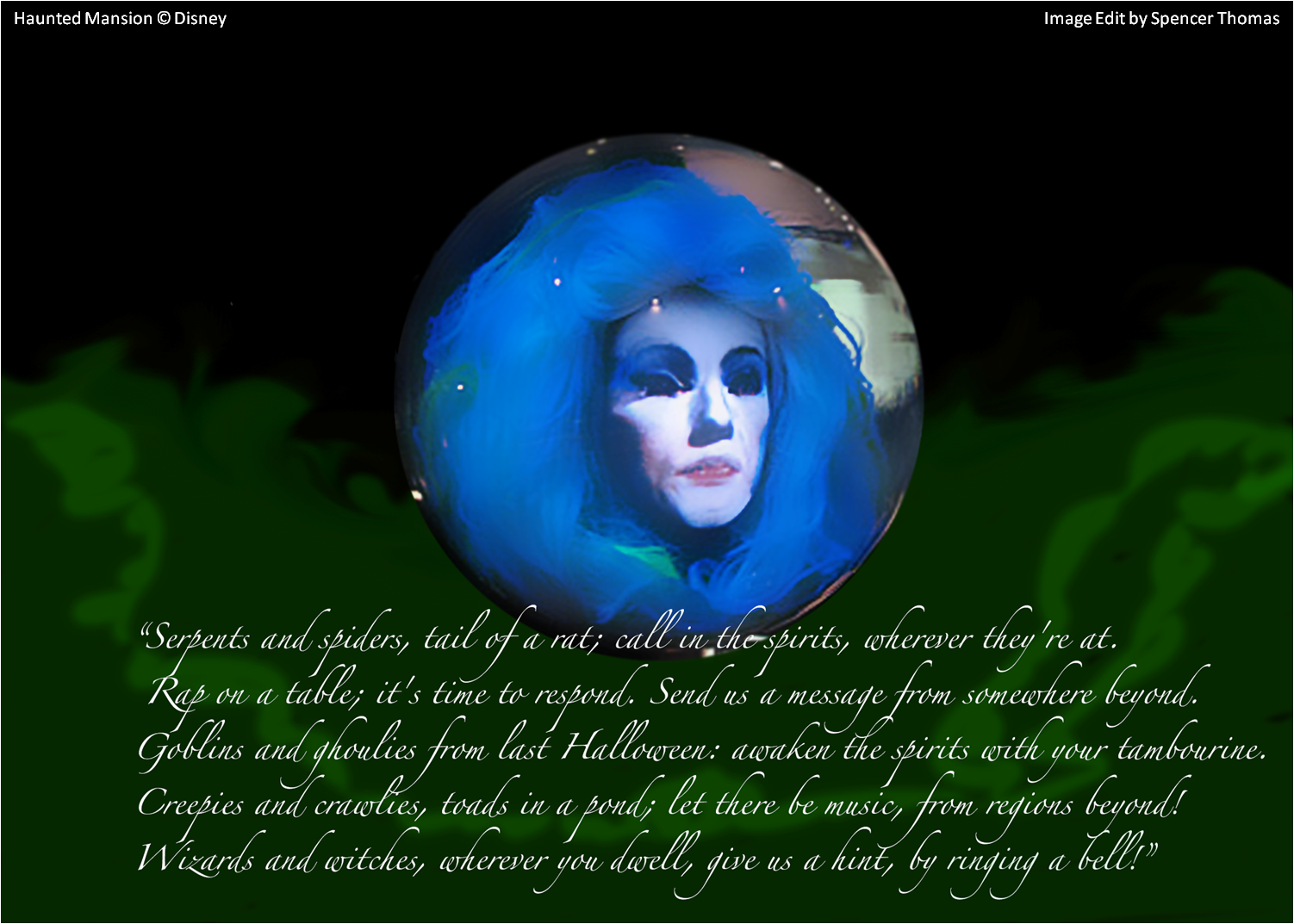 Quotes About Haunted Houses: Madame Leota Quote, Haunted Mansion Copyright Disney