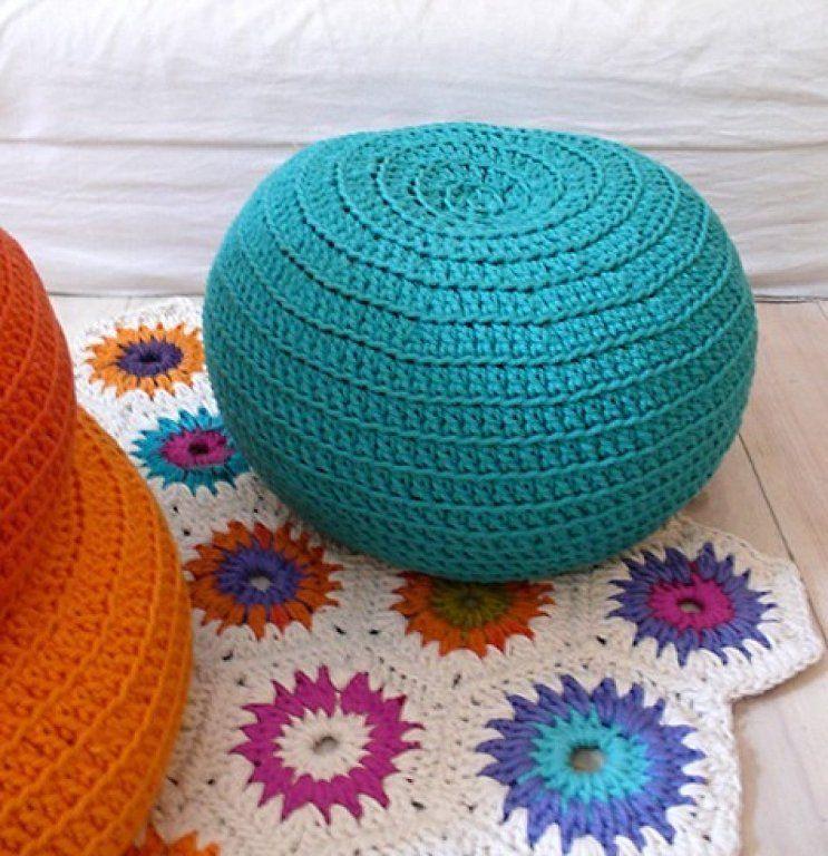 trapillo tejidos ponerse cojines de ganchillo tapetes de ganchillo cojn de suelo ganchillo almohada crochet sillones puff cojines en el suelo