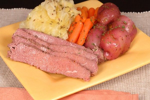 Corned beef and cabbage, slow cooker