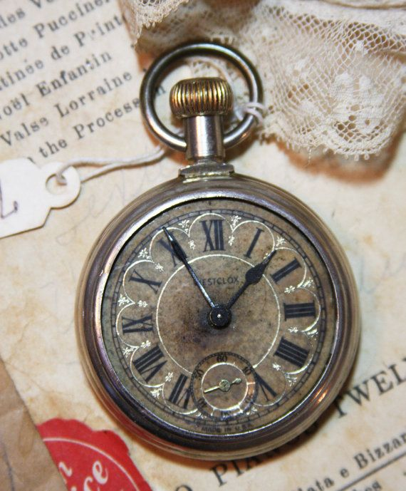 Vintage Pocket Watch Westclox Ornate With Roman By