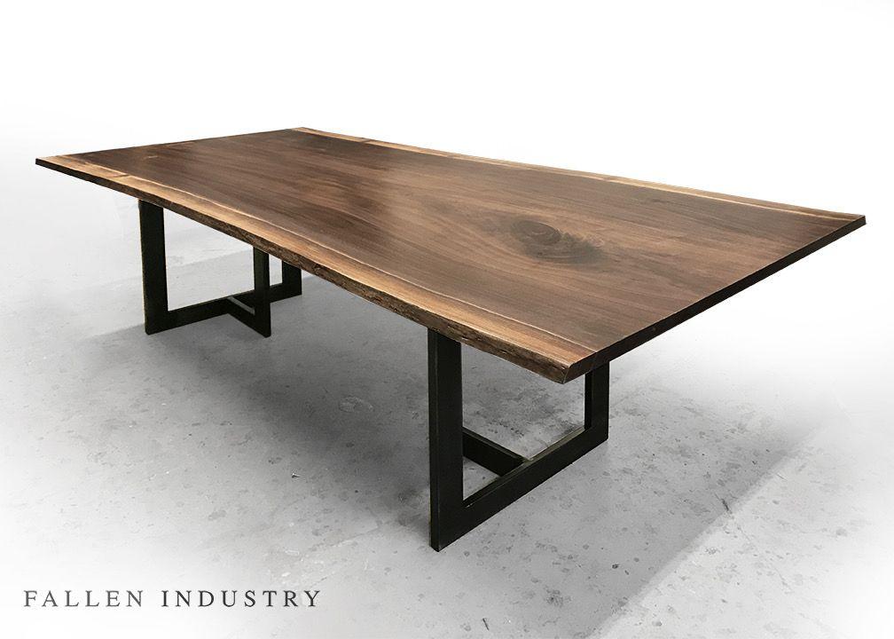 New Tribeca Table Made From A Fallen Walnut Tree Live Edge Custom - Reclaimed wood table nyc