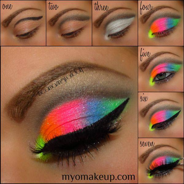 Ultra Bright Remix Tutorial Colorful Eye Makeup Neon Makeup