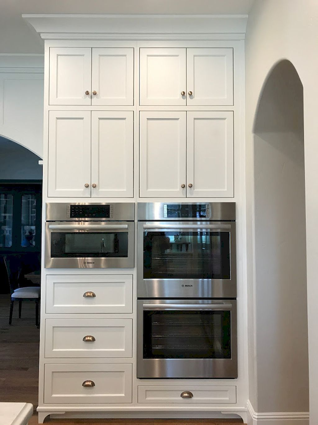 We Ve Recently Noticed A New Kitchen Design Idea That Falls Into This Subtle But S Kitchen Renovation Inspiration White Kitchen Renovation New Kitchen Cabinets