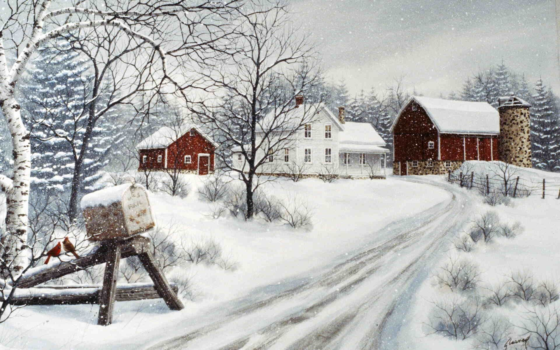 Winter on the Farm Kathy Glasnap Winter scenery