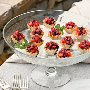 Strawberry Fromage Tartlets
