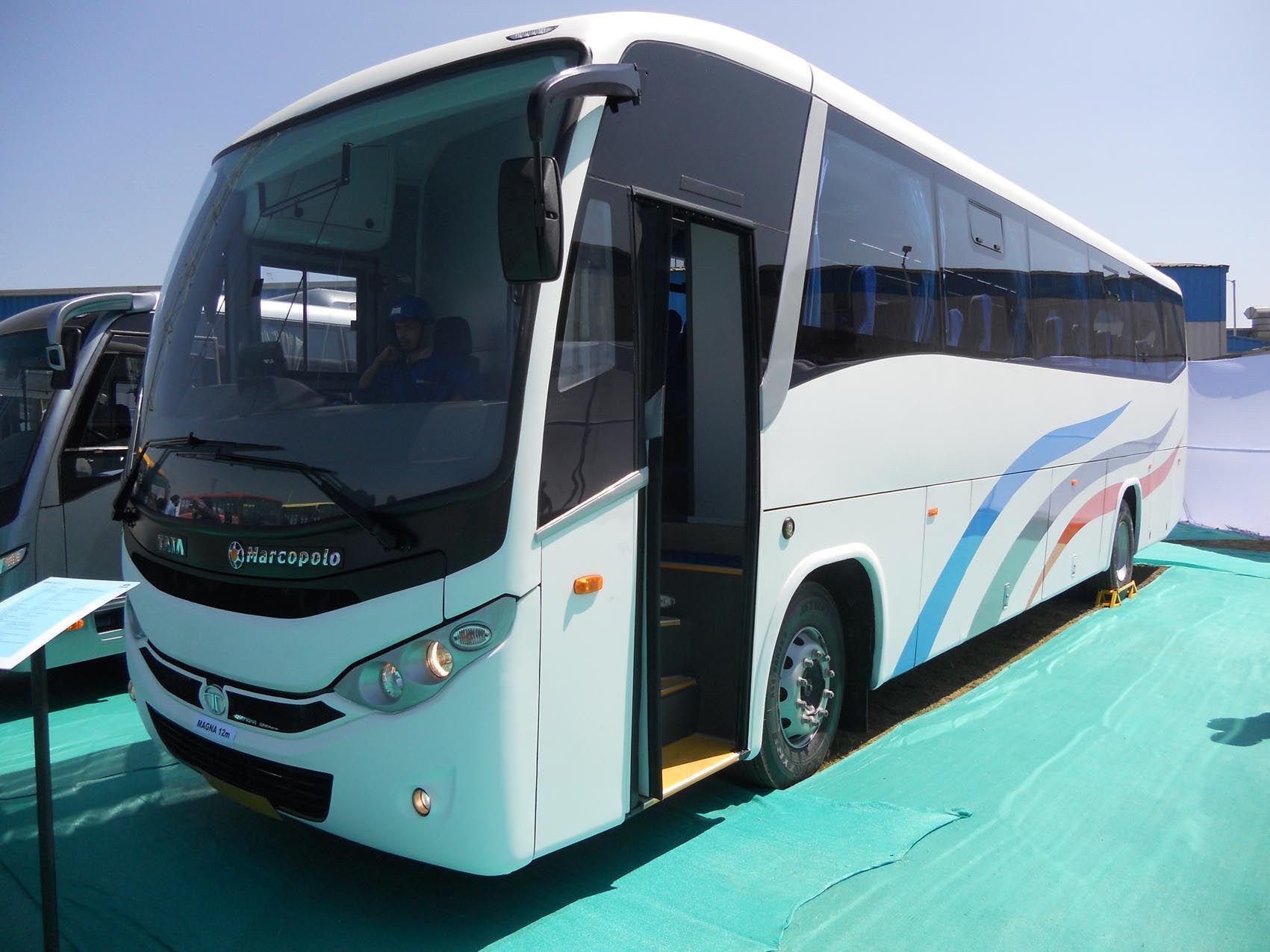Bus Battery Tata Marcopolo Volvo Tata motors, Luxury bus