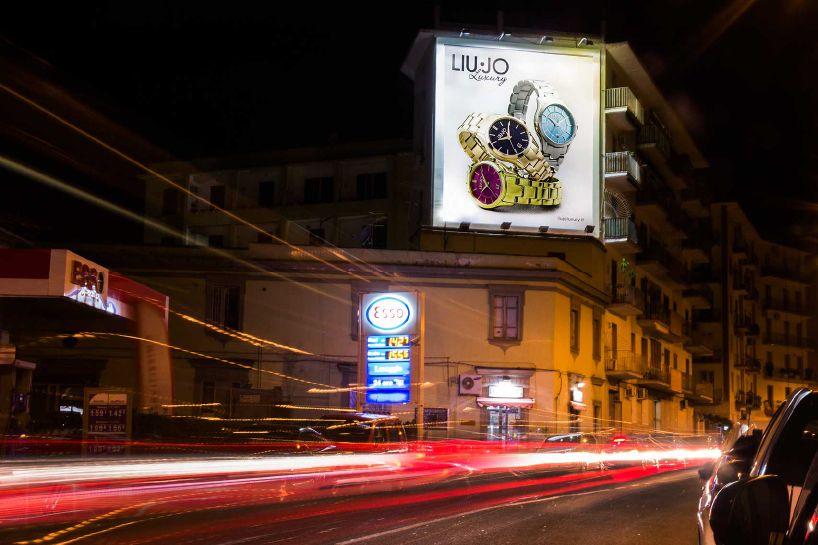 Liu jo Napoli Via Manzoni Affissione Maxiaffissione