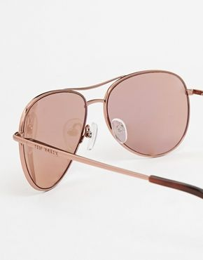 2ef6f59a0 Ted Baker Carter Rose Gold Mirror Aviator Sunglasses | Rose gold ...