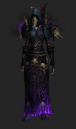 A Warlock Transmog Set Containing 7 Items Wow Transmog In 2019