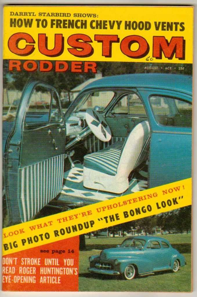 Custom Rodder August 1960 Old Vintage Car Magazine Classic ...