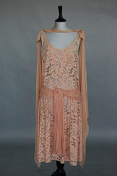 Four poor condition flapper dresses, 1920s, of - Kerry Taylor Auctions   Invaluable