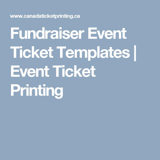 fundraiser ticket printing