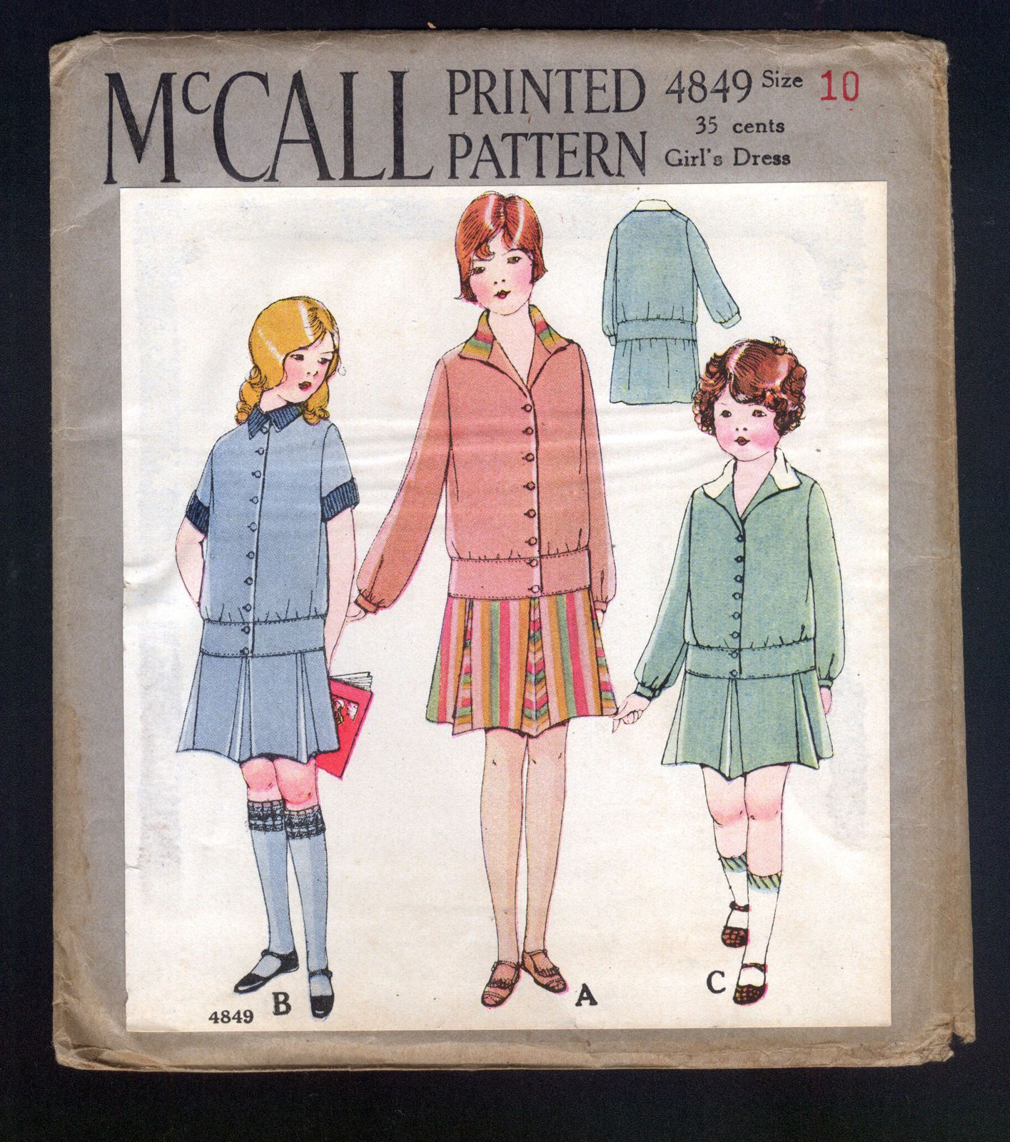 1920\'s McCall Pattern Girl\'s Dress with Pleated Skirt | 1920s ...