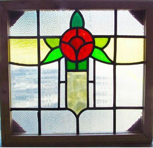 Antique-Stained-Glass-Window-Six-color-Ruby-Red-Macintosh-Rose