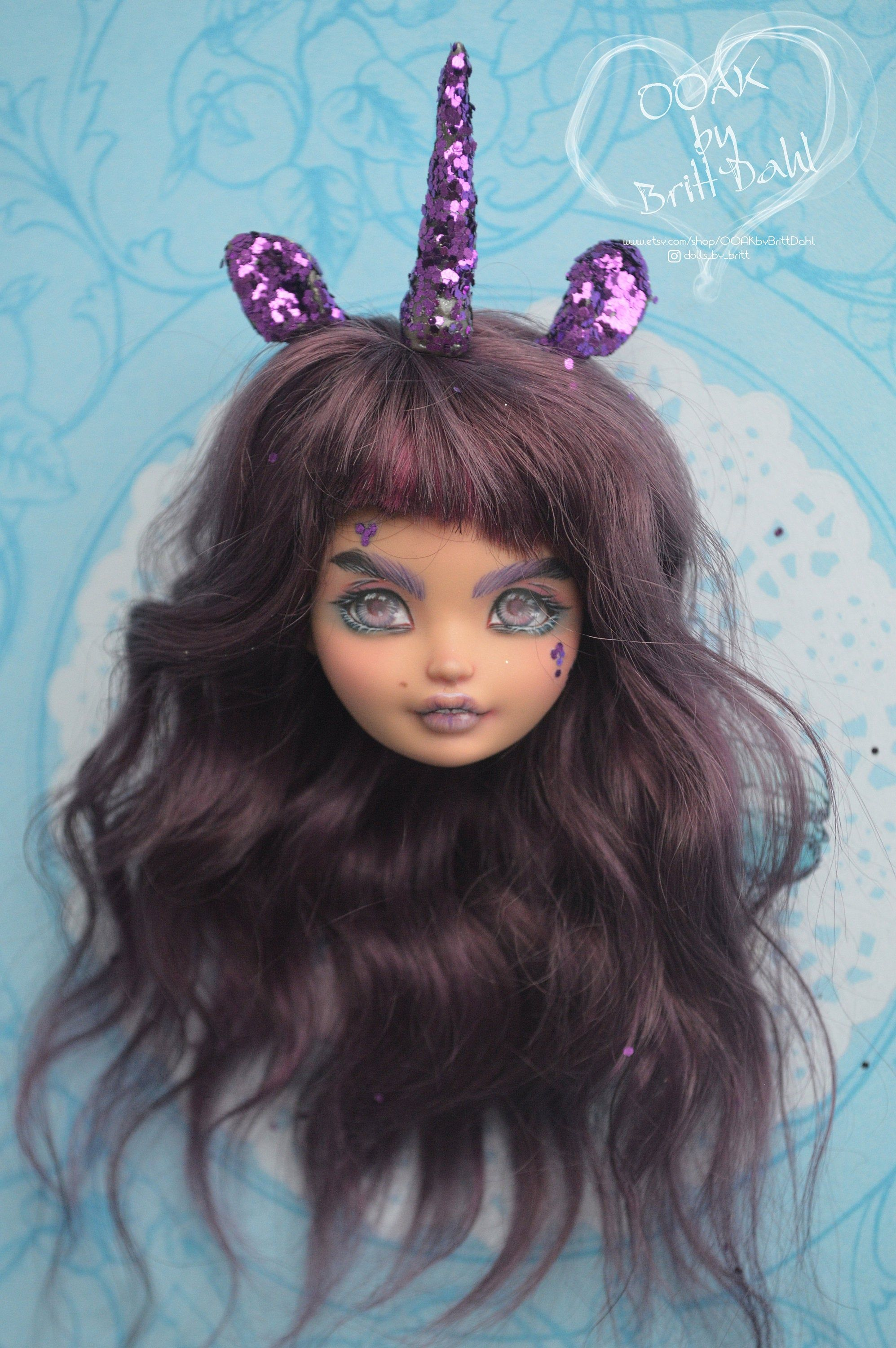 Ooak Doll Repaint Monster High Ever After High Unicorn