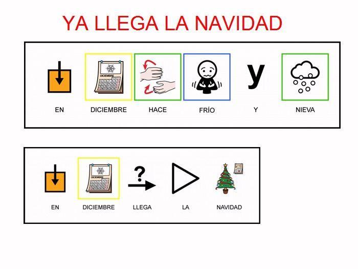 MATERIALES - Libro de Navidad.    Power point con frases y texto para trabajar las fiestas de Navidad.    http://arasaac.org/materiales.php?id_material=199