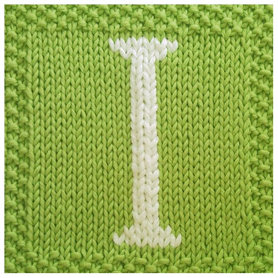 PDF Knitting pattern capital letter I afghan / by ...