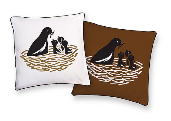 bird + nest pillow