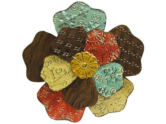 Metal Flowers Wall Decor large metal flower wall art |  shapes & decorative wall pieces
