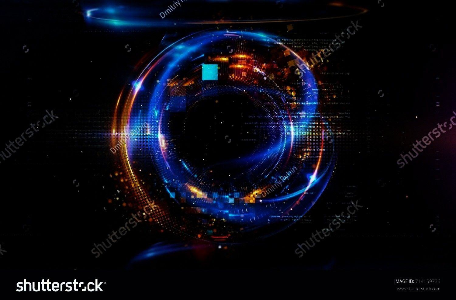 Numbers HUD Background Matrix particles grid virtual reality Smart build Grid core Hardware quantum form Future technology Decoding dna 3d abstract tech background Floati...