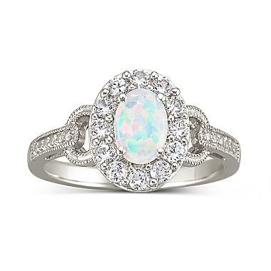 Genuine Birthstone Ring. I actually have this ring with my birthstone. But I'm a sucker for the opals. This is beautiful! JCPenney only $35
