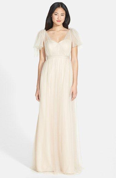 Jenny Yoo \'Annabelle\' Convertible Tulle Column Dress ...