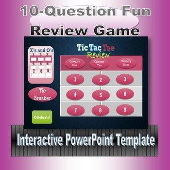 Tic Tac Toe Review Game Template Tic Tac Toe Game Tic Tac Toe And