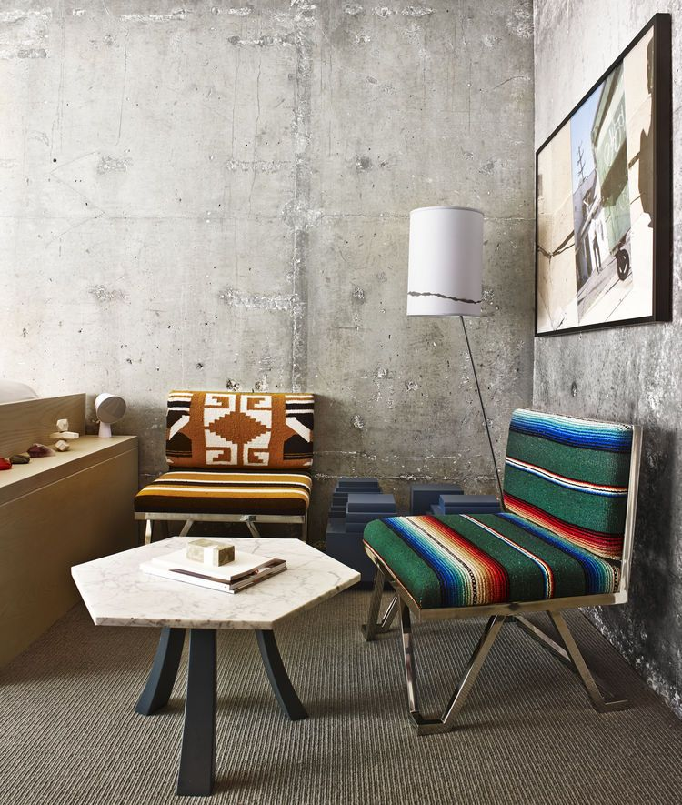 Modernist The Line Hotel Koreatown Los Angeles Negril Chairs Bianco Table  Sean Knibb Design