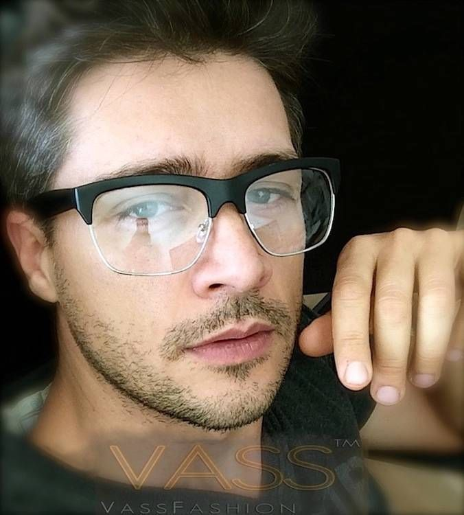 8f8101bb3d9 Rectangle Horned Rim Clubmaster Clear Lens Fashion Men Black Eye Glasses  Frame