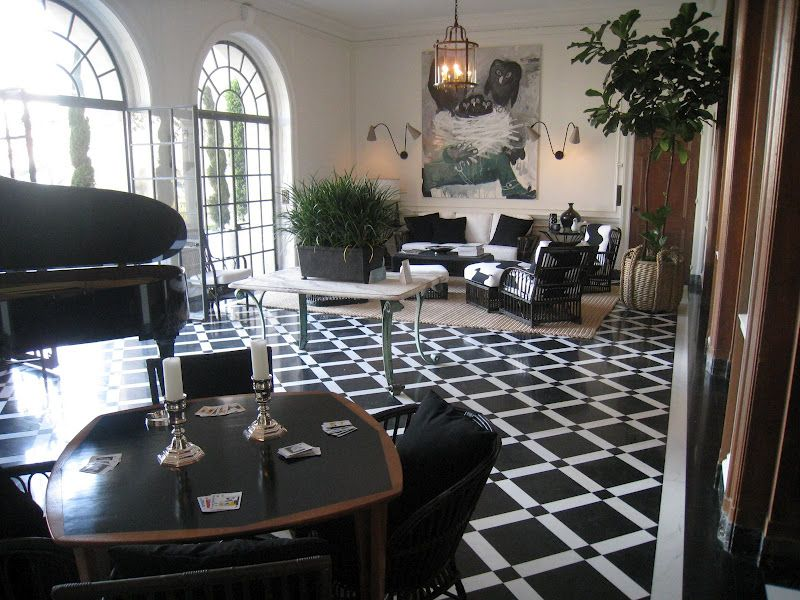 SEE THIS HOUSE: A BLACK AND WHITE HALL   THE RECEPTION ROOM AT THE  GREYSTONE ESTATE SHOW HOUSE. Marble FloorMarble TilesWhite ...