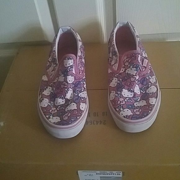 Hello Kitty Vans Hello Kitty Vans size 8.5, shoes are used but still have a lot of life left, soles are in great shape, no rips and no bad odor, smoke free home. Vans Shoes Sneakers