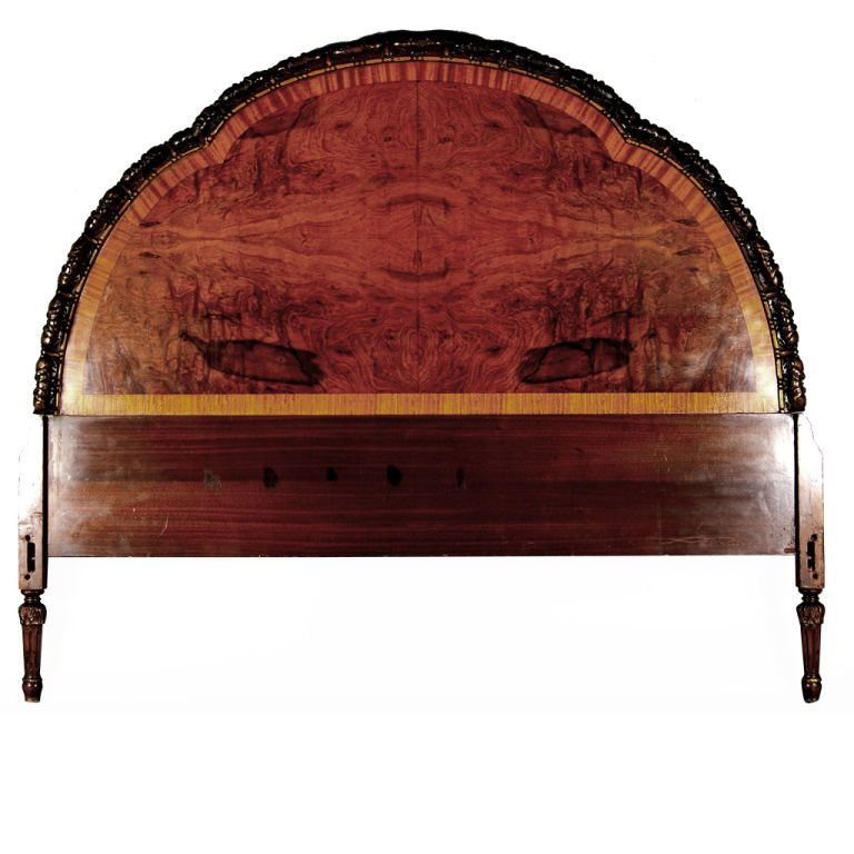 American Chestnut & Flamed Mahogany Headboard