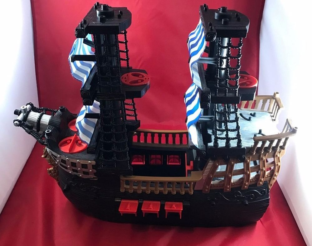 Fisher price Imaginext Black and Red Pirate Ship Captain