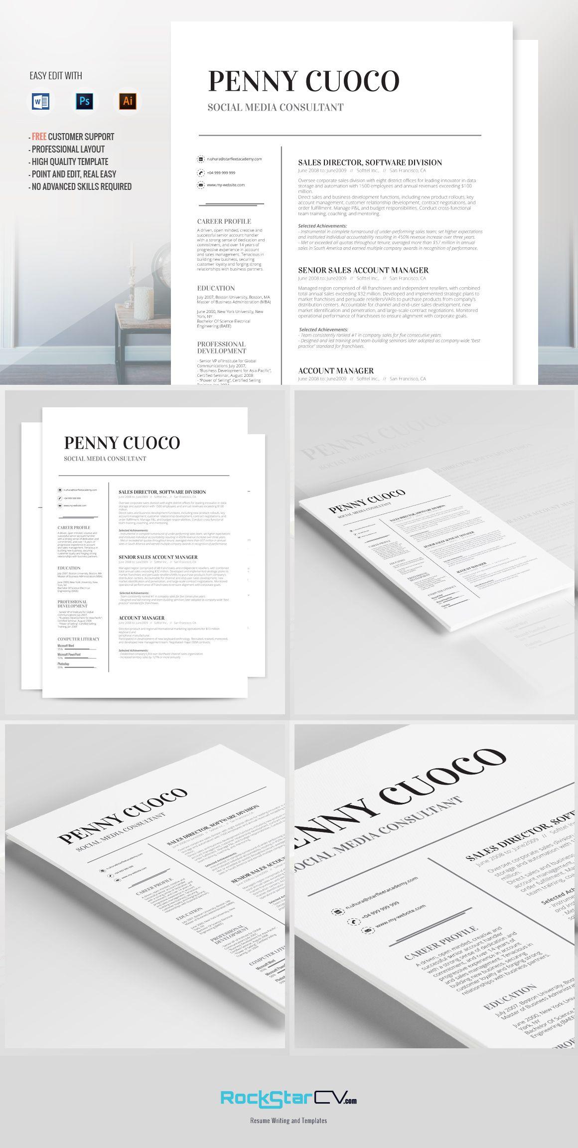 Resume Template Volantis Alpha | Pinterest