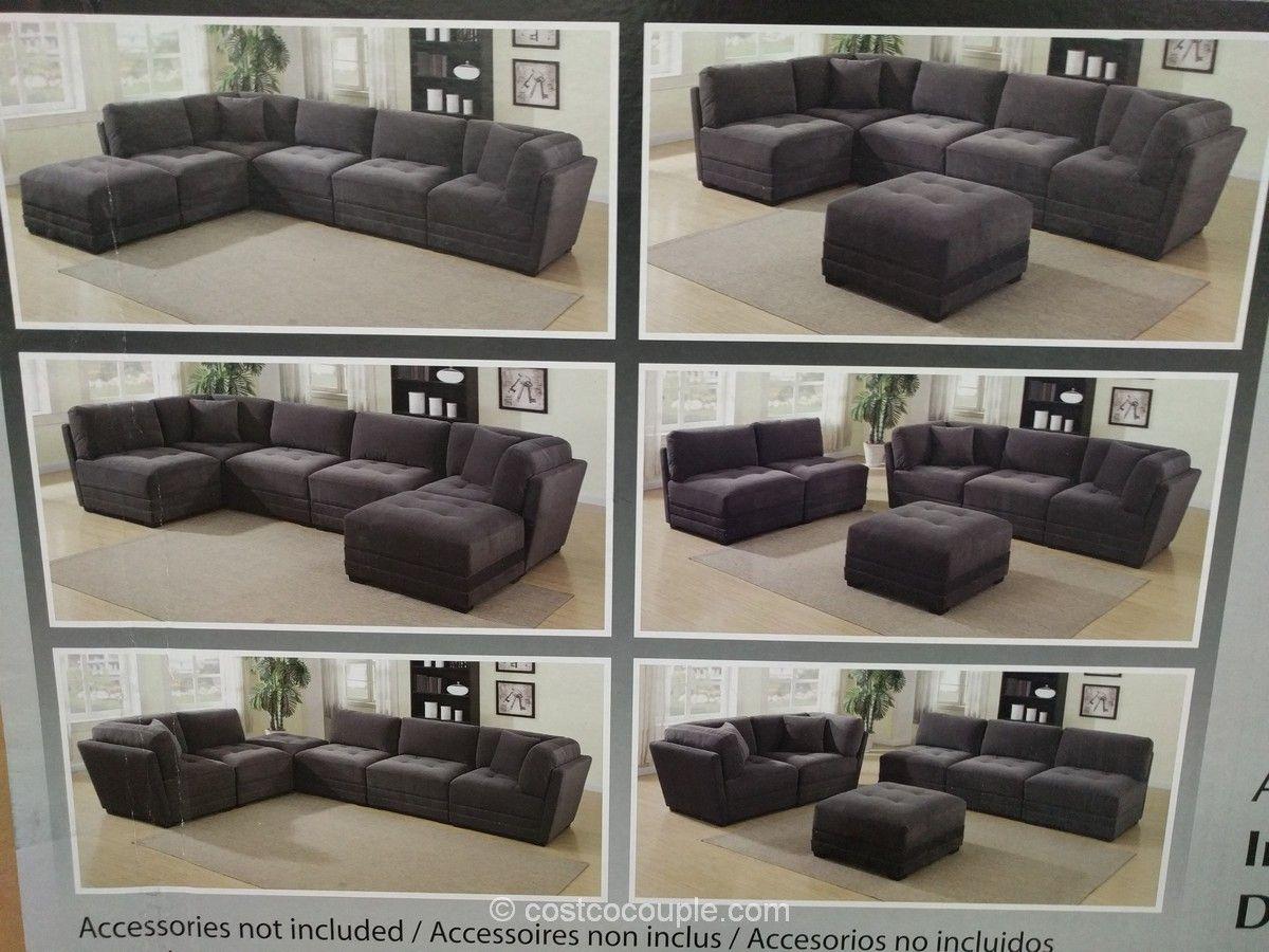 6 Piece Modular Fabric Sectional Costco Modular Sectional Sofa
