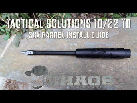 Tactical Solutions 10/22 TD SBX Barrel - Install Guide - http://fotar15.com/tactical-solutions-1022-td-sbx-barrel-install-guide/