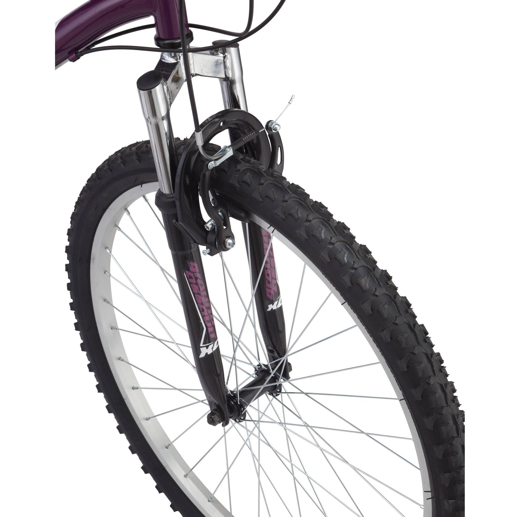 Roadmaster Granite Peak Women S Mountain Bike 26 Wheels Purple Walmart Com Recreational Bikes Bike Mountain Biking