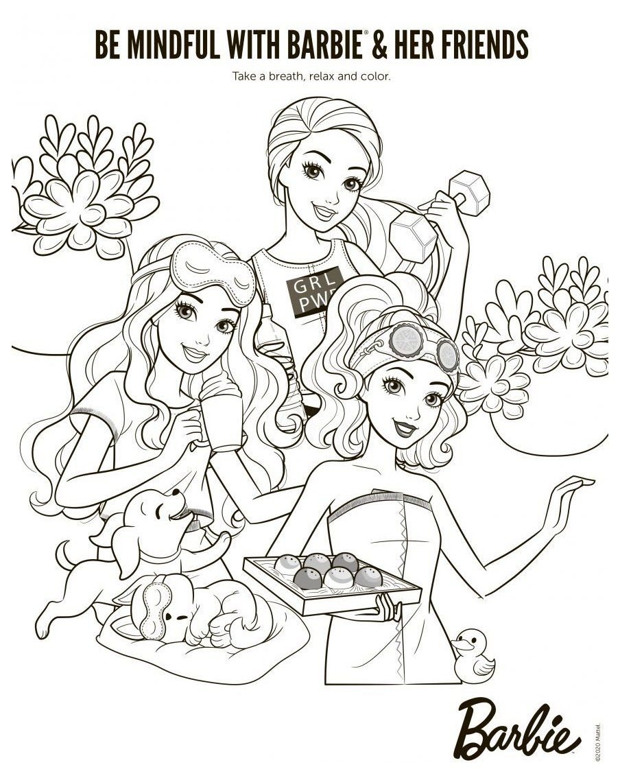 Barbie New Coloring Pages With Fun Activity For Kids Barbie Coloring Pages For Kids Barbiecolori Barbie Coloring Pages Barbie Drawing Cute Coloring Pages