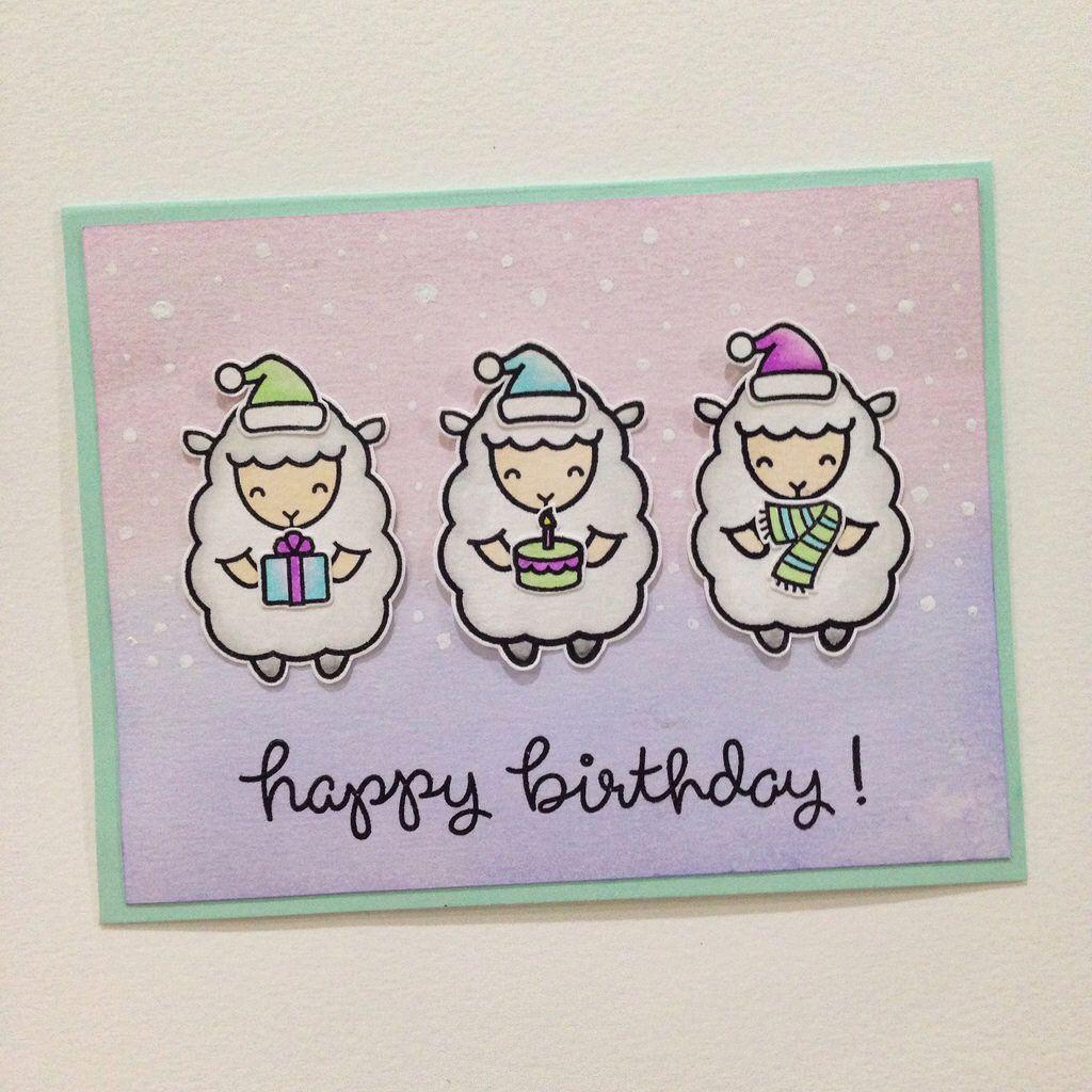 Winter birthday sheeps