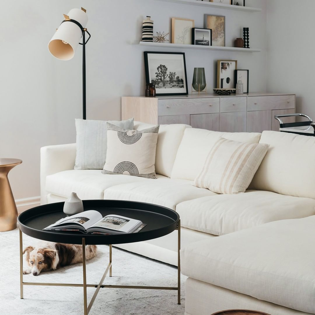 Maiden Home On Instagram Winter Whites Forever The Warren Chaise Sectional In Oyster Performance Linen Featuring Lolath Home Living Room Home Coffee Table