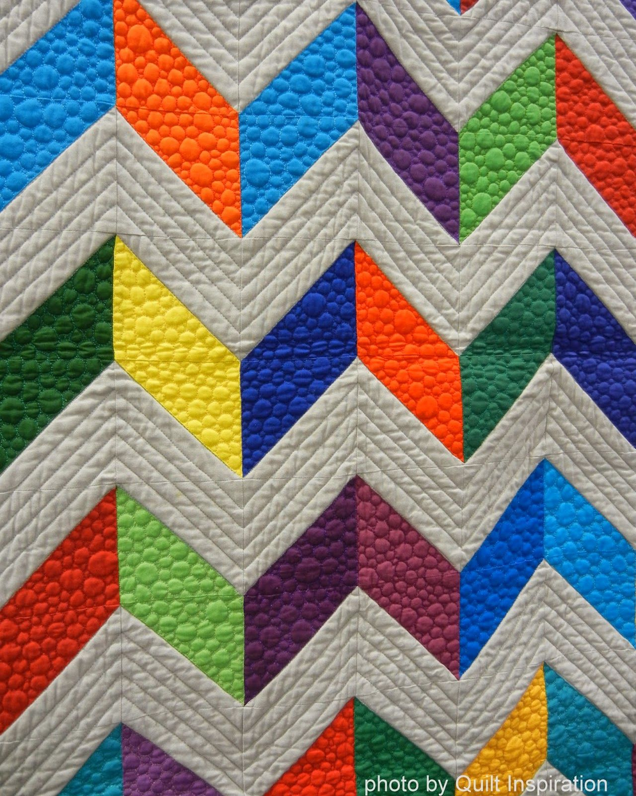 Chevron. Love the way this has a different quilting pattern on the ... : different quilting patterns - Adamdwight.com
